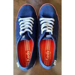 Keds Blue with Red/White Trim Sneakers